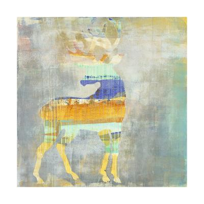 Sunrise Stag-Maeve Harris-Premium Giclee Print