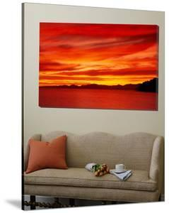 Sunrise, Water, Mulege, Baja, California, Mexico, United States