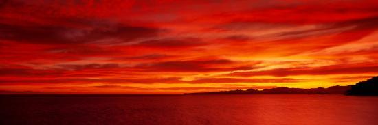 Sunrise, Water, Mulege, Baja, California, Mexico, United States--Photographic Print