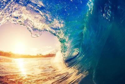 Sunrise Wave, Tropical Island Atoll, Nature Untouched Paradise-EpicStockMedia-Photographic Print