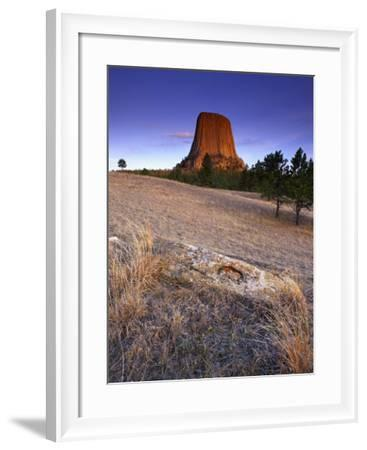 Sunrise with Devil's Tower-Keith Ladzinski-Framed Photographic Print