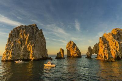 Sunrise with Fishing Boats at Land's End, Cabo San Lucas, Baja California Sur-Michael Nolan-Photographic Print