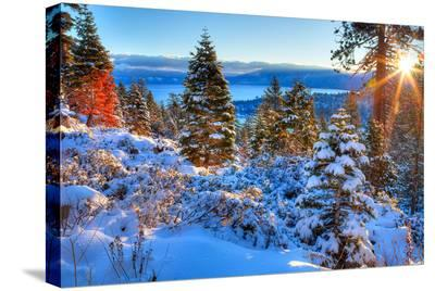 Sunrises Over Lake Tahoe CA--Stretched Canvas Print