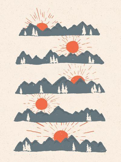 Sunrises Sunsets-NDTank-Art Print