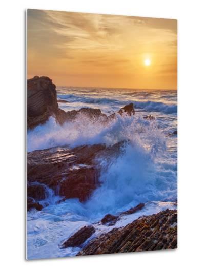 Sunscape Splash at Montaña de Oro State Park-Vincent James-Metal Print