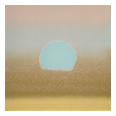 Sunset, 1972 (gold, blue)-Andy Warhol-Art Print