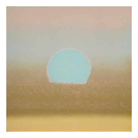 Sunset, 1972 (gold, blue)-Andy Warhol-Art Print