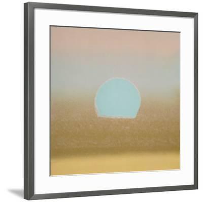 Sunset, 1972 (gold, blue)-Andy Warhol-Framed Art Print