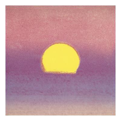 Sunset, 1972 (lavender)-Andy Warhol-Art Print