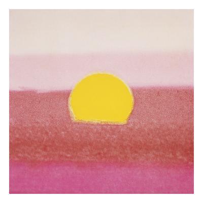 Sunset, 1972 (pink)-Andy Warhol-Art Print