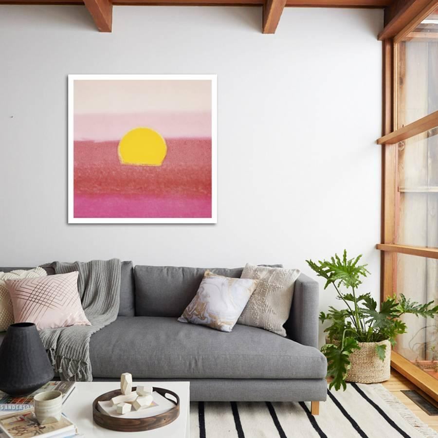 sunset by andy warhols