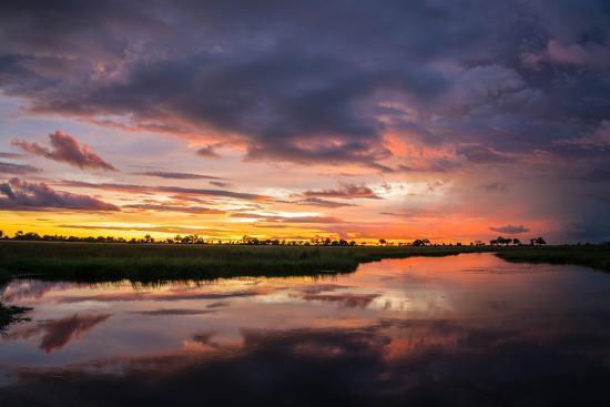 Sunset Above Botswana's Okavango Delta-Beverly Joubert-Photographic Print
