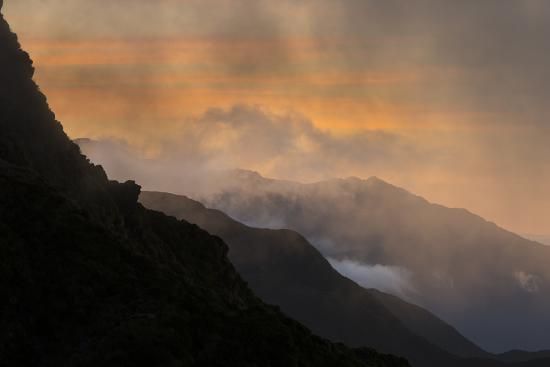 Sunset Above Fox Glacier-Michael Melford-Photographic Print