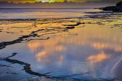 Sunset Above Low Tide Pools at Kawakiu Nui Beach on Molokai's West End-Richard A^ Cooke-Photographic Print