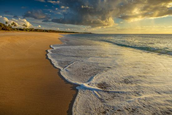 Sunset Above Papohaku Beach on Molokai's West End-Richard A^ Cooke-Photographic Print