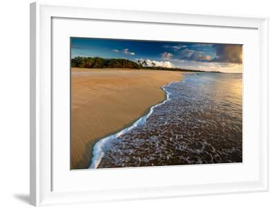 Sunset Above Papohaku Beach on Molokai's West End-Richard A^ Cooke-Framed Photographic Print