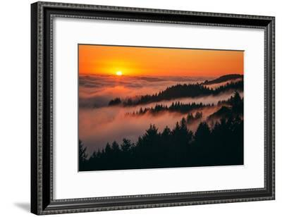 Sunset Above the Fog San Francisco Bay Area Mount Tamalpais-Vincent James-Framed Photographic Print
