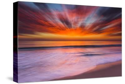 Sunset Abstract from Tamarack Beach in Carlsbad, Ca-Andrew Shoemaker-Stretched Canvas Print