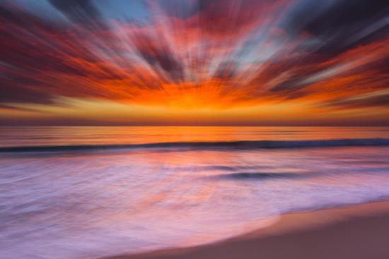 Sunset Abstract from Tamarack Beach in Carlsbad, Ca-Andrew Shoemaker-Premium Photographic Print