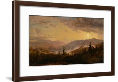 Sunset after a Storm in the Catskill Mountains, c.1860-Jasper Francis Cropsey-Framed Giclee Print