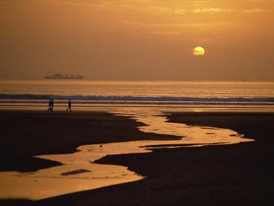 Sunset, Agadir Beach, Agadir, Morocco, North Africa, Africa-Robert Francis-Photographic Print