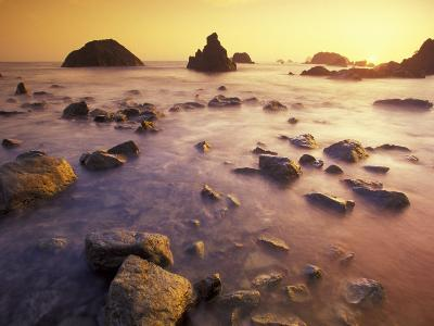 Sunset along Crescent Beach, California, USA-Darrell Gulin-Photographic Print
