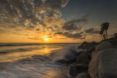 Sunset Along Tamarack Beach in Carlsbad, Ca-Andrew Shoemaker-Photographic Print