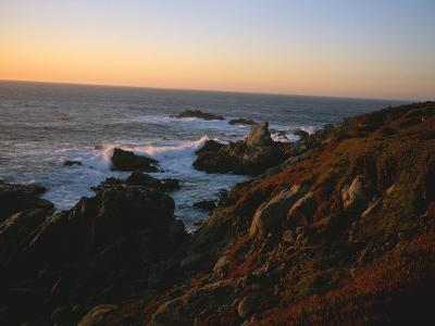 Sunset Along the Coastline of Big Sur in California-Taylor S^ Kennedy-Photographic Print