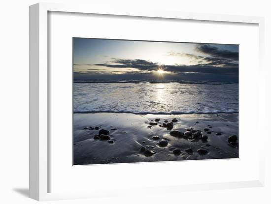 Sunset Along the Pacific Coast at Torrey Pines State Natural Reserve, California-Kent Kobersteen-Framed Photographic Print