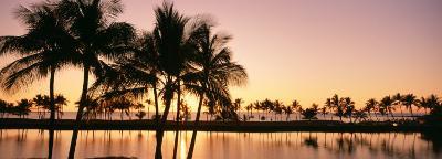 Sunset, Anaehoomalu Beach, Hawaii, USA--Photographic Print