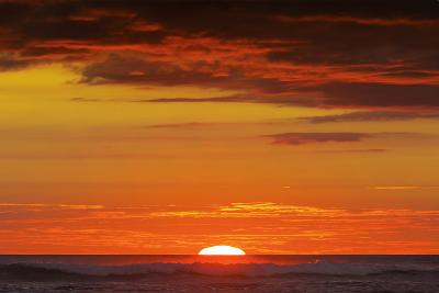 Sunset and Sunlit Clouds over Playa Guiones Surf Beach-Rob Francis-Photographic Print