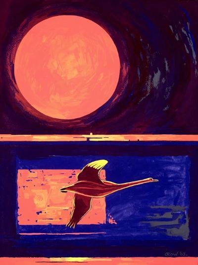 Sunset and Swan, 2003-Derek Crow-Giclee Print