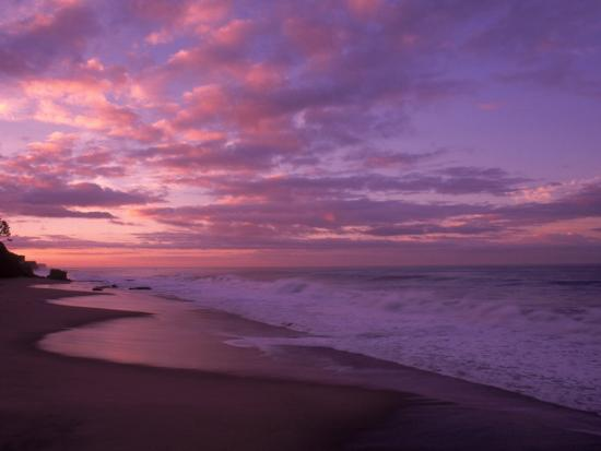 Sunset and the Ocean, CA-Mitch Diamond-Photographic Print