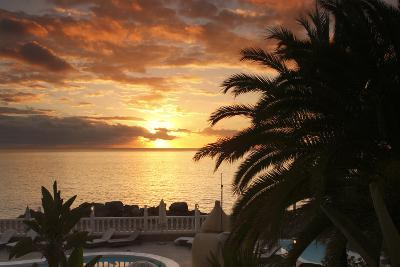 Sunset, Arguineguin, Gran Canaria, Canary Islands, Spain-Peter Thompson-Photographic Print
