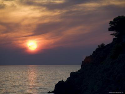 Sunset, Assos, Kefalonia (Cephalonia), Ionian Islands, Greece-R H Productions-Photographic Print