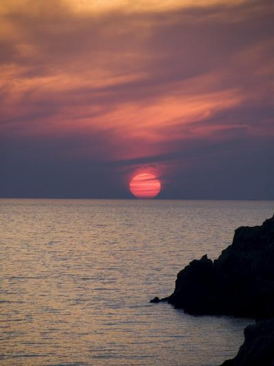 Sunset, Assos, Kefalonia (Cephalonia), Ionian Islands, Greece-R H Productions-Photographic Print