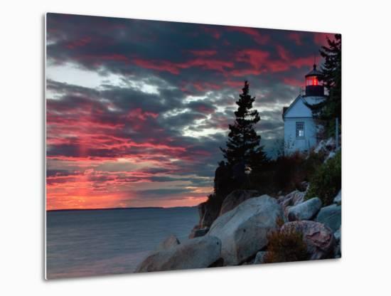 Sunset at Bass Harbor-Vincent James-Metal Print
