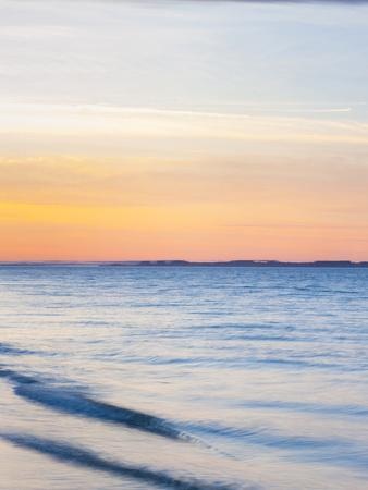 Sunset at Beach with Waves-James Shive-Photographic Print