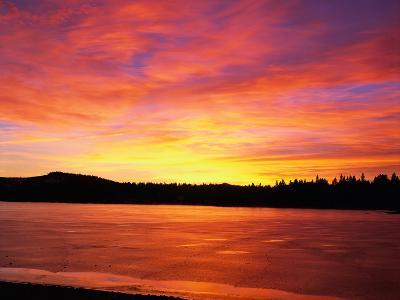 Sunset at Boca Reservoir, Truckee, CA-Kyle Krause-Photographic Print