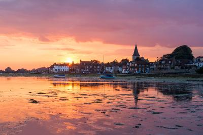 Sunset at Bosham in West Sussex-Chris Button-Photographic Print