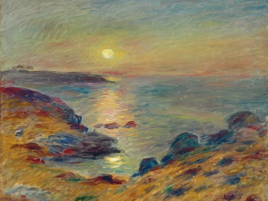 Sunset at Douarnenez, Ca, 1883-Pierre-Auguste Renoir-Premium Giclee Print