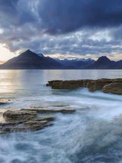Sunset at Elgol Beach on Loch Scavaig, Cuillin Mountains, Isle of Skye, Scotland-Chris Hepburn-Photographic Print