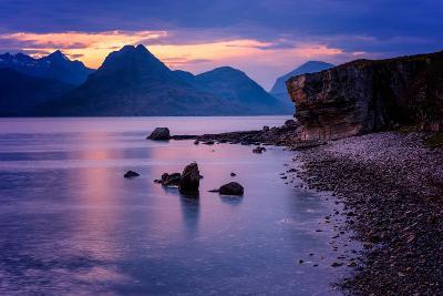Sunset at Elgol, Isle of Skye, Inner Hebrides, Scotland, United Kingdom, Europe-Karen Deakin-Photographic Print