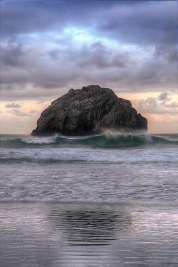 Sunset at Face Rock, Bandon Beach, Oregon Coast-Vincent James-Photographic Print
