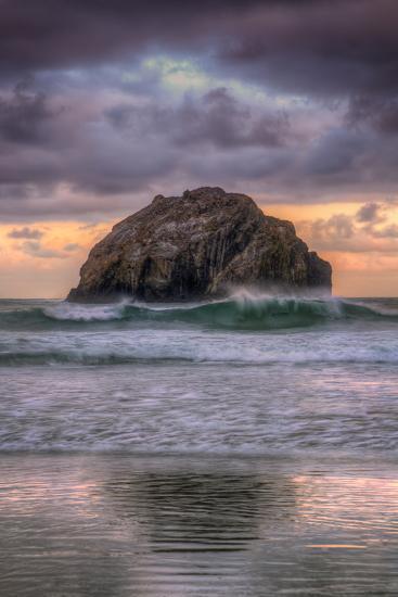 Sunset at Face Rock, Bandon Beach Oregon-Vincent James-Photographic Print