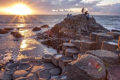 Sunset at Giant S Causeway-Aitormmfoto-Photographic Print