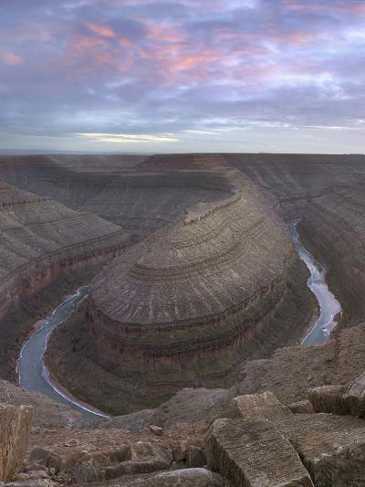 Sunset at Goosenecks of the San Juan River, Utah-Tim Fitzharris-Photographic Print