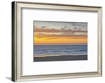 Sunset at Heceta Beach, Oregon Coast, Pacific Ocean, Oregon, USA-Michel Hersen-Framed Photographic Print
