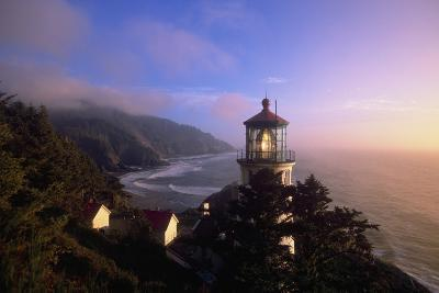 Sunset at Heceta Head Lighthouse in Oregon-Craig Tuttle-Photographic Print