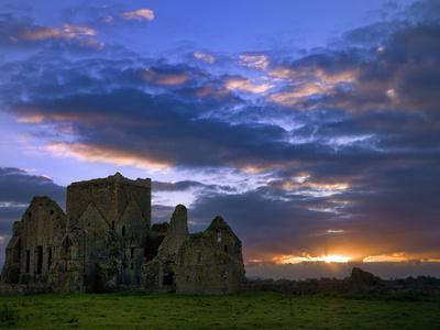 Sunset at Hore Abbey in Tipperary-Chris Hill-Photographic Print